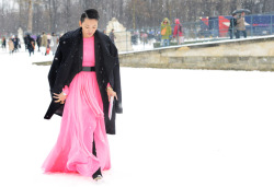 Loving the bold neon in the dead of winter at the Paris couture shows