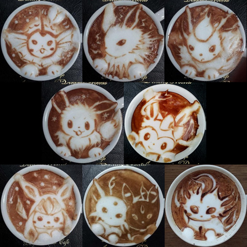 acetraineraudrey:  simplypokemon:   Delicious Eeveelutions  whoa. that eevee is super cute  wow