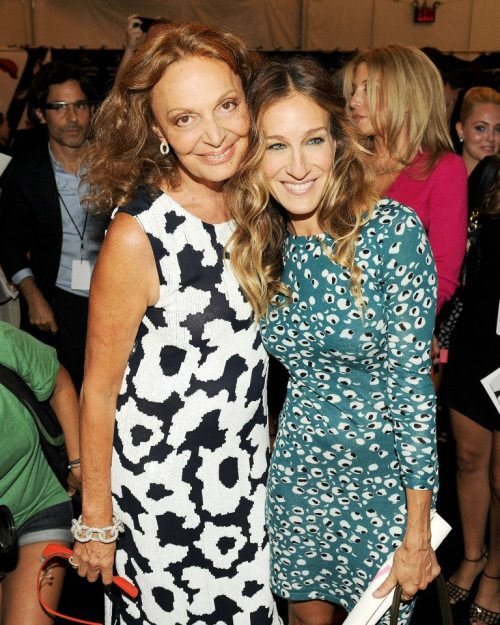 Diane von Furstenberg and Sarah Jessica Parker during New York Fashion Week, Fall 2013