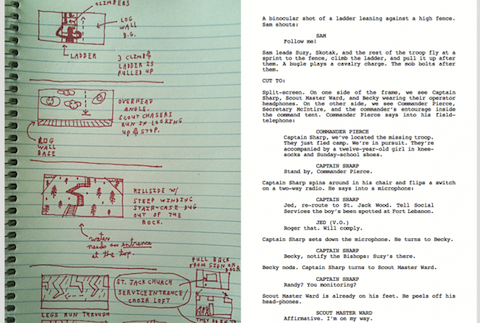 Browse a Lovely Annotated 'Moonrise Kingdom' Script
