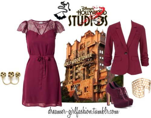 Hollywood Tower of Terror by nardeenelsokkary featuring a chain necklace