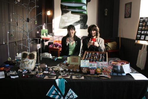 Day 39: Ad & Elisa on the Crafty Praxis stall at Raconteur Magazine Present… A Fashionably Late Launch Party! This was a super nice event, so chilled, nice sunny day, many great people!