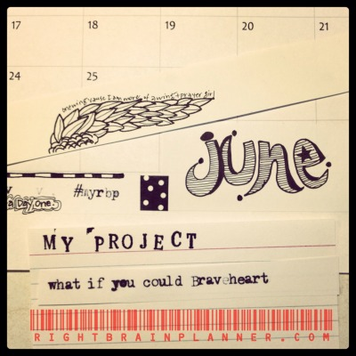 More glimpses of June's {right brain} planner booklet! Subscribe at: http://www.rightbrainplanner.com/subscribe/