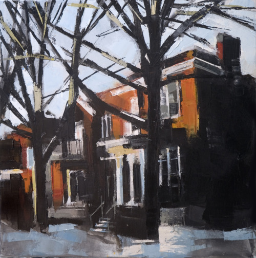Monkland Avenue just north of Girouard, 16×16 on canvas