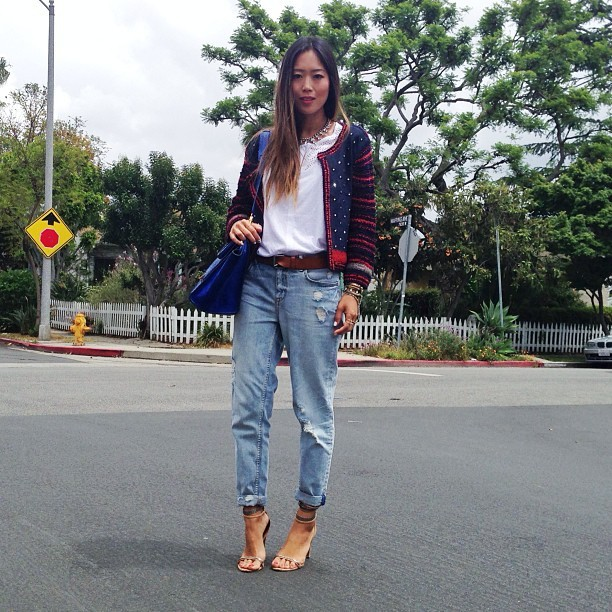 iwantbigcloset:  (via .@songofstyle | Today's work outfit! Wearing the so called 'perfect' boyfriend jeans that no… | Webstagram - the best Instagram viewer)