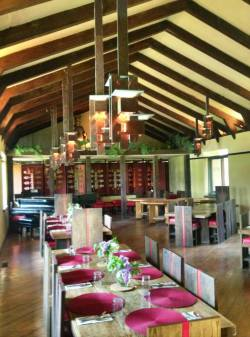 The Hillside dining room at Taliesin is set up and ready for students of our School of Architecture. www.taliesin.edu