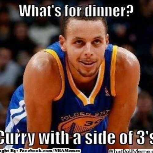 Some Curry on those 3's