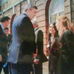 #tb me n @hibstah greeting the old PM #gordonbrown
