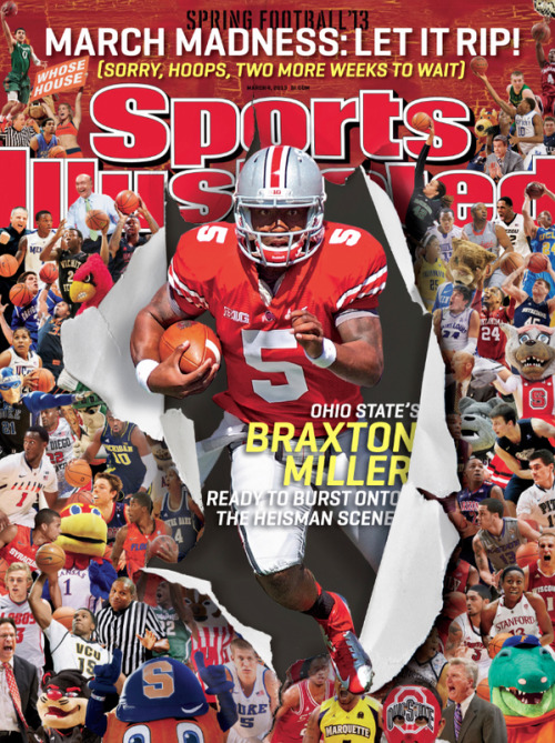 "Braxton Miller gets national cover love from Sports Illustrated. Queue the talk of the ""SI jinx"" in 3…2…"