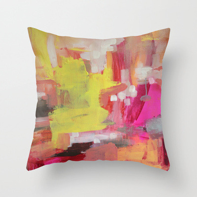 abstract art to decor (via Tigerlily Throw Pillow by Jenny Vorwaller | Society6)