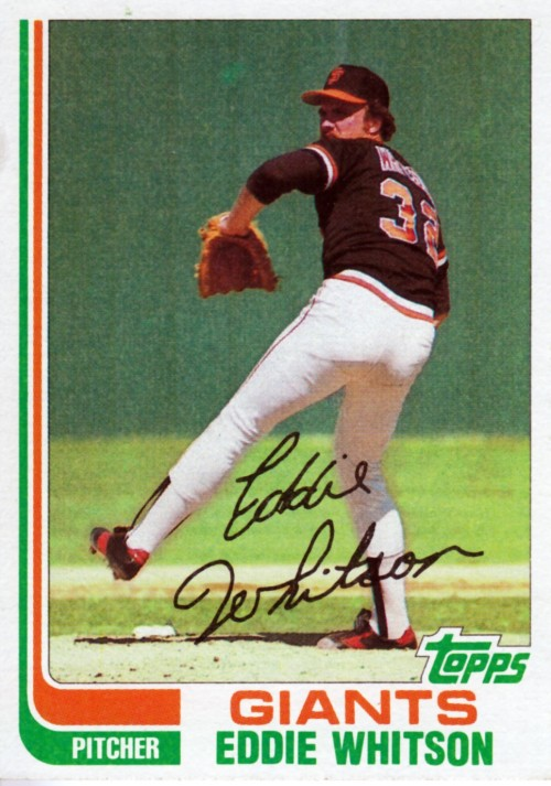 Random Baseball Card #2339: Ed Whitson, pitcher, San Francisco Giants, 1982, Topps.