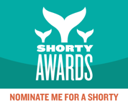 "Nominate GLAAD for a social media award in the Shorty Awards We want you to vote for us in the 5th Annual Shorty Awards! Tweet a vote of support for us in the activism category. The Shorty Awards ""honor the best in social media; recognizing the people and organizations producing real-time short content across Twitter, Facebook, Tumblr and the rest of the social web."" Each year, millions visit the Shorty Awards site to vote for the social media content creators of their choice. GLAAD has led the conversation toward equality on social media this year. We have used our Twitter, Facebook, Tumblr, and Instagram accounts to spread a message of equality and acceptance. Help us by going to the Shorty Award website and tweeting a vote of support in the activism category ."