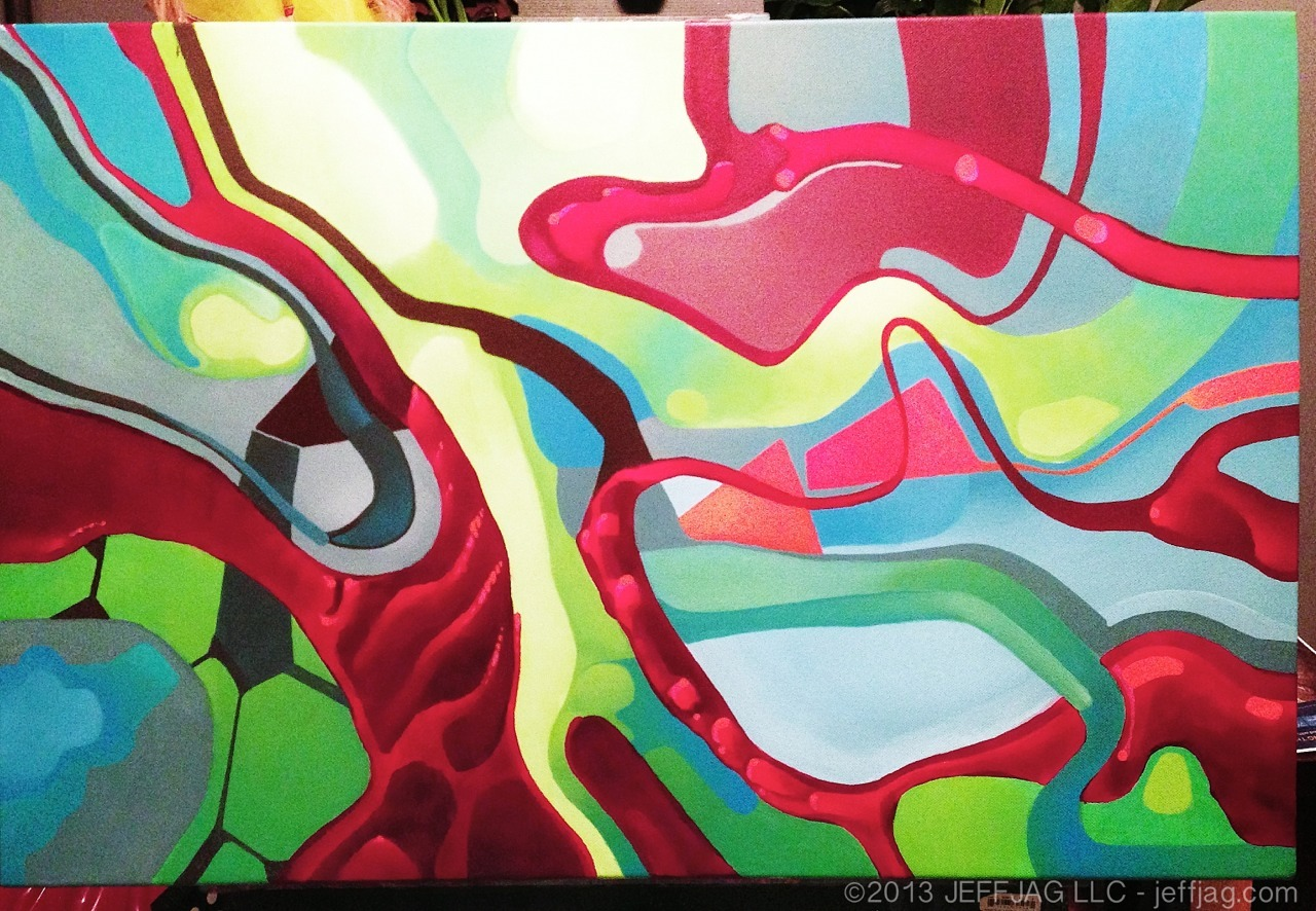 "© 2013 JeffJag llc, New acrylic painting, RGB. 20""x30"" progress 34 #HOTMAY"
