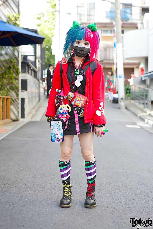 Anime-loving Harajuku girl Yuri w/ items from Space Tribe, Cyberdyne & Dr. Martens.