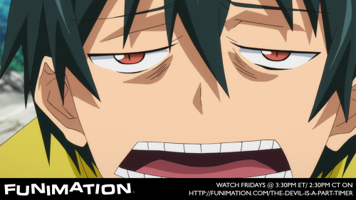 New episode of The Devil is a Part-Timer! today at 3:30pm ET on http://funimation.com/the-devil-is-a-part-timer