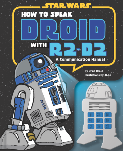 "JAKe Announces New Star Wars Book How to Speak Droid with R2-D2 http://bit.ly/129OIsw  Source  JAKe sent an update to tell us of his new book. ""How to Speak Droid with R2-D2"", coming Fall 2013! Following the success of How to Speak Wookiee comes this essential manual for inter­acting with droid units in various situations. Droids are made to be reliable, helpful, and daring, but they can be frustratingly stubborn. This convenient sound guide will help new droid users bypass that malfunction and utilize them to their full capacity. Featuring helpful scenarios—like convincing a droid to play back full messages, serve beverages and hors d'oeuvres at events, diagnose and repair mechanical issues on an X-wing, or just walk the dog—plus a sound module of 10 different droid phrases demonstrated by R2-D2, this handbook is a necessity for any new droid user. Urma Droid is an expert on human-droid relations, special­izing in R2 character studies. She lives and conducts research on Coruscant. JAKe was born in Hull, England, but was raised by Wookiees from a young age. He speaks the Wookiee language fluently, but can communicate with an R2 unit enough to get his pencils sharpened. He lives and works in London. You can pre-order this now from Amazon and should be released August 20th 2013.Related Fly Posts"