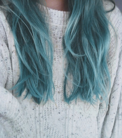 love hair fashion hipster young Grunge blue wild