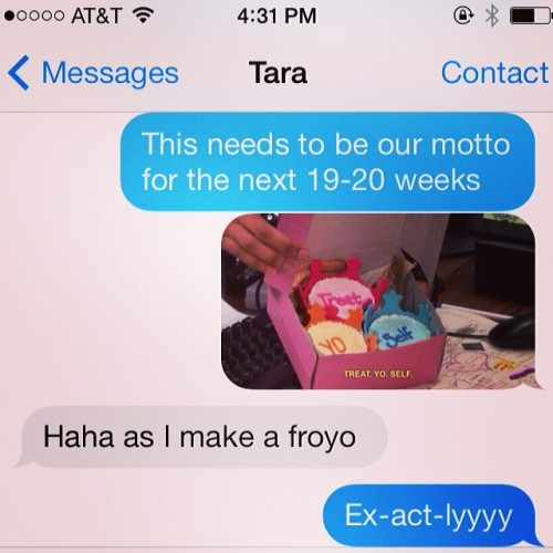 Having a friend to be pregnant with is the best. #treatyoself