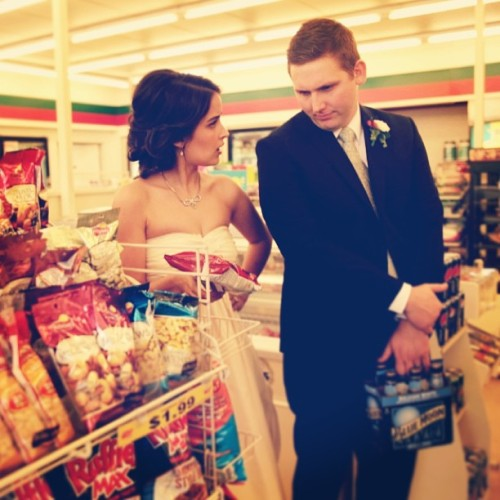 Priorities in the right order: get married, get snacks. @carolinedrexler and @natedrexler boom.
