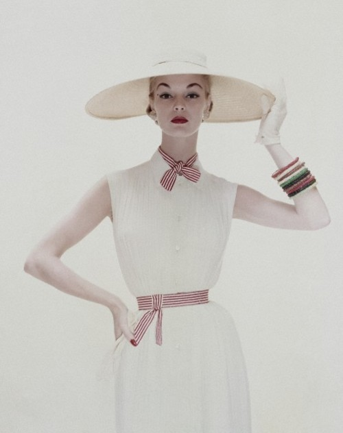 Jean Patchett (wearing dress by David Crystal), Conde Nast, 1954. Kodak Safety Film by Erwin Blumenfeld