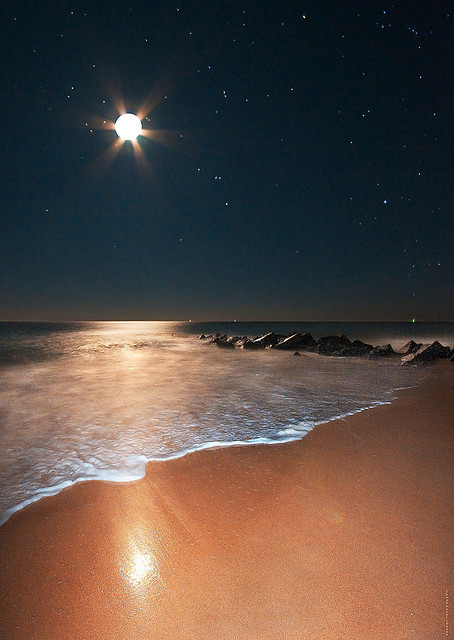 neptunesbounty:  Moonshine, Orion Rising on Vilano Beach With Notes by JamesWatkins on Flickr.