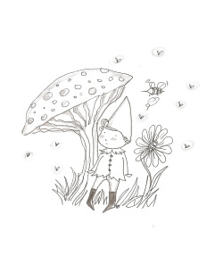 A little elf…illustration by Ilaria Vallone Un piccolo elfo…un illustrazione di Ilaria Vallone
