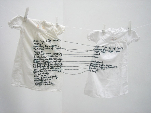 conceptstitches:  'The Stitch is Lost Unless the Thread is Knotted' by Aya Haidar