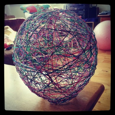 My attempt to model the neural network of the brain using string, glue and a balloon is complete..