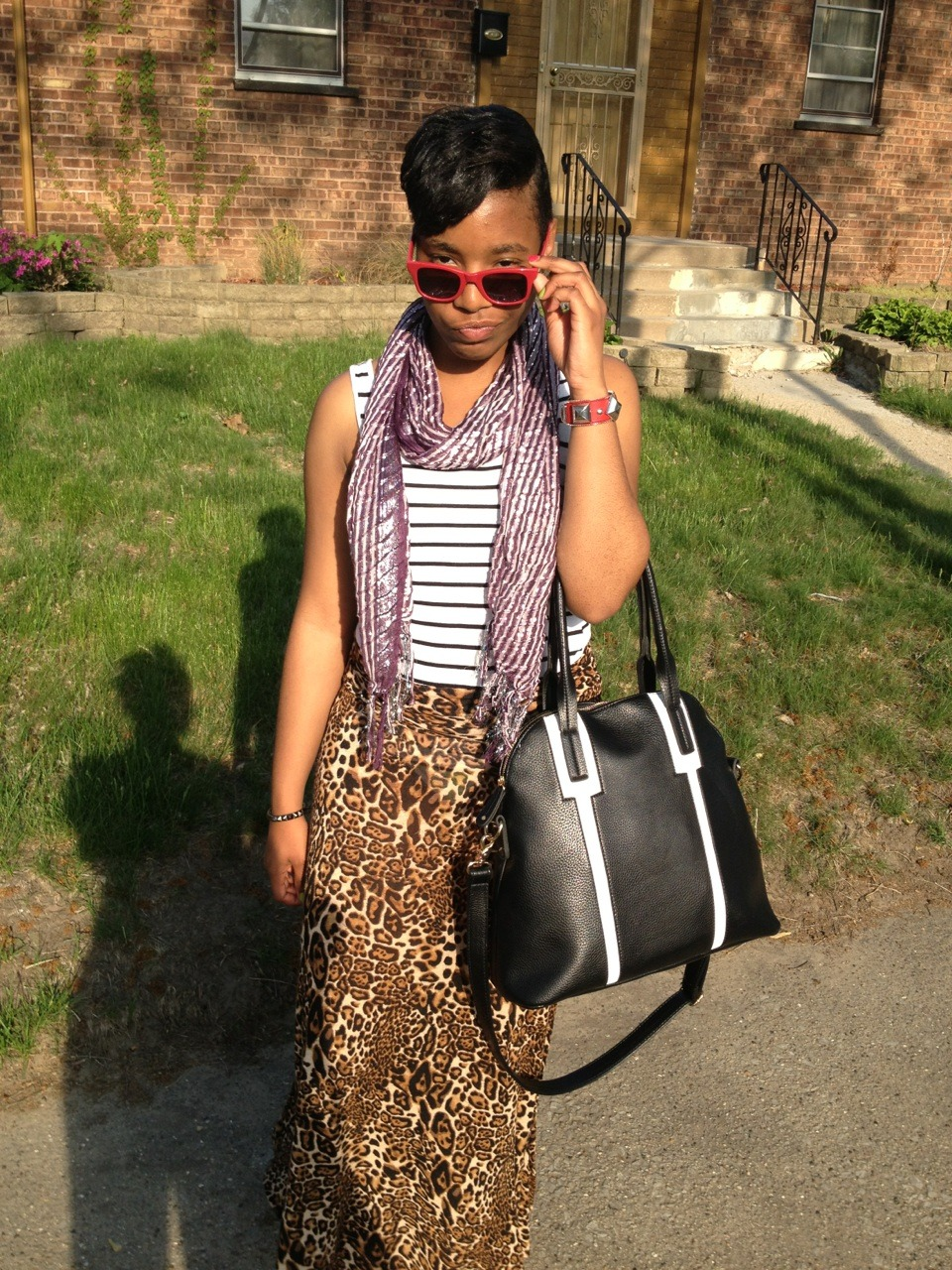 Leopard Print and StripesThese pictures show a couple things: I mix prints without hesitation, my signature pose is with my…View Post
