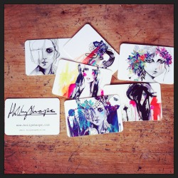 New business cards ;) www.hollysharpe.com  Holly Sharpe ♡