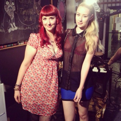 #TBT Shooting with @mtvstyle and @thenewclassic #iggyazalea! Do you remember her Fran Drescher nail art?? #nail #nails #nailart #MTV