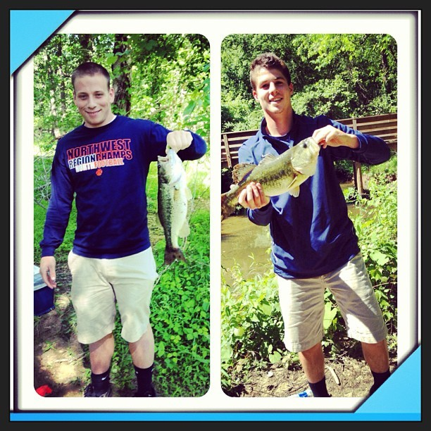 #tbt to the time Austin brought me fishing and didn't tell AJ 🙊 @ajslye6 I miss senior year