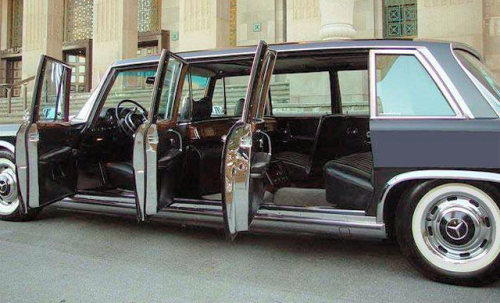 The ultimate despot mobile.  Mercedes 600 Series.