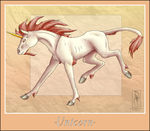 Mythical Creature-Unicorn by ~BlueEyesBlackTears