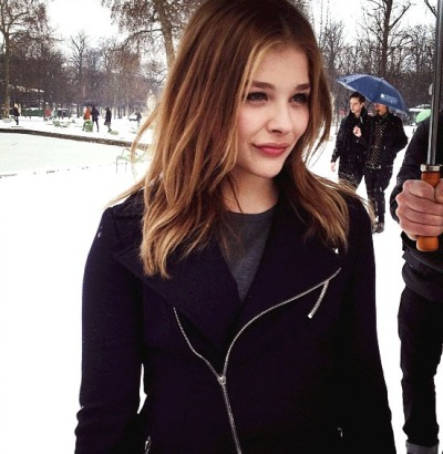 Chloe Moretz at a Dior fashion show in Paris - January 21st, 2013