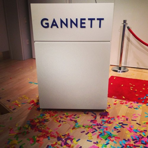 And that's a wrap for @gannettco Employee Awards! What a (colorful) success! #confetti (at Gannett)