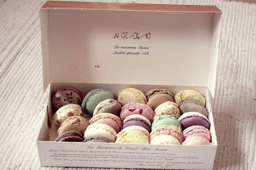 I'm not a fan of macarons, but this picture is lovelier than most.