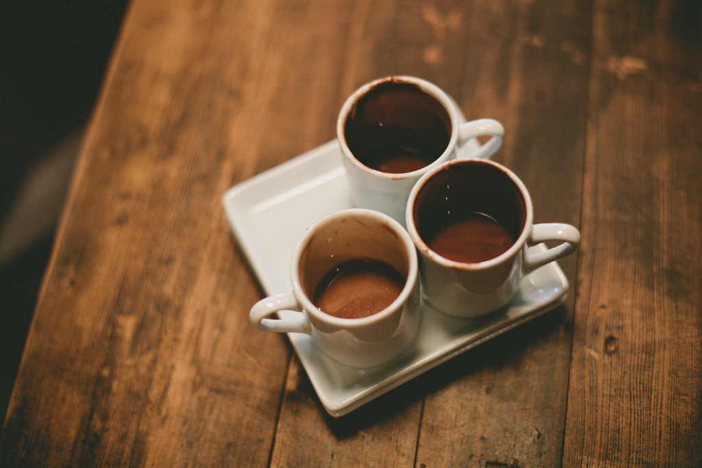 conducives:  A Trio of Drinking Chocolates (by Jade M. Sheldon)