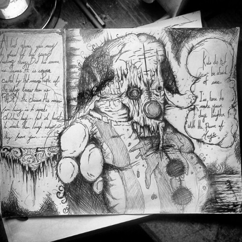 #art #darkart #story #scary #demon #devil #death #clown #evil #drawing #happy #satan #weird #monster