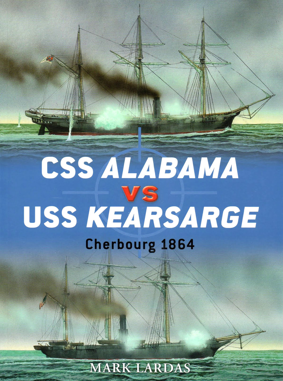 BOOK REVIEW – CSS Alabama vs USS Kearsarge: Cherbourg 1864 By Mark Lardas, Osprey Publishing, (2011) Reviewed by Thomas P. Ostrom The author, Mark Lardas, brings a degree in naval architecture and marine engineering to his analysis of this epic American Civil War naval battle; as well as experience in writing as a military historian, and ship modeler. The book is enhanced with magnificent illustrations by ship modeler and war gamer Peter Dennis. (read the full review)