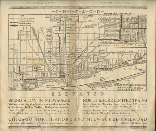 1921 Chicago L Map