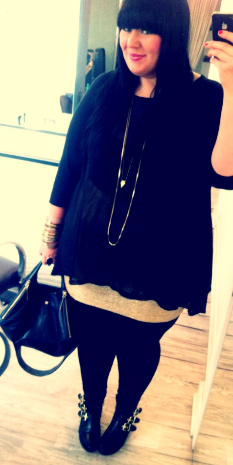 ootd. h+m gold skirt, unknown raglan + chiffon top, dolce vita for target boots, pour la victoire bag.