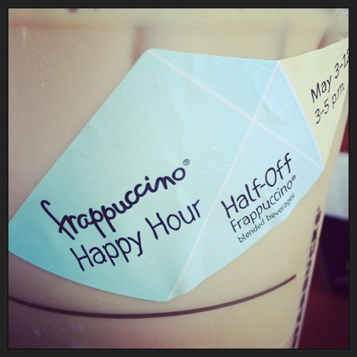 Starbucks Happy hour starts tomorrow! Can't wait #starbucks #fraps #happyhour  (at Starbucks)