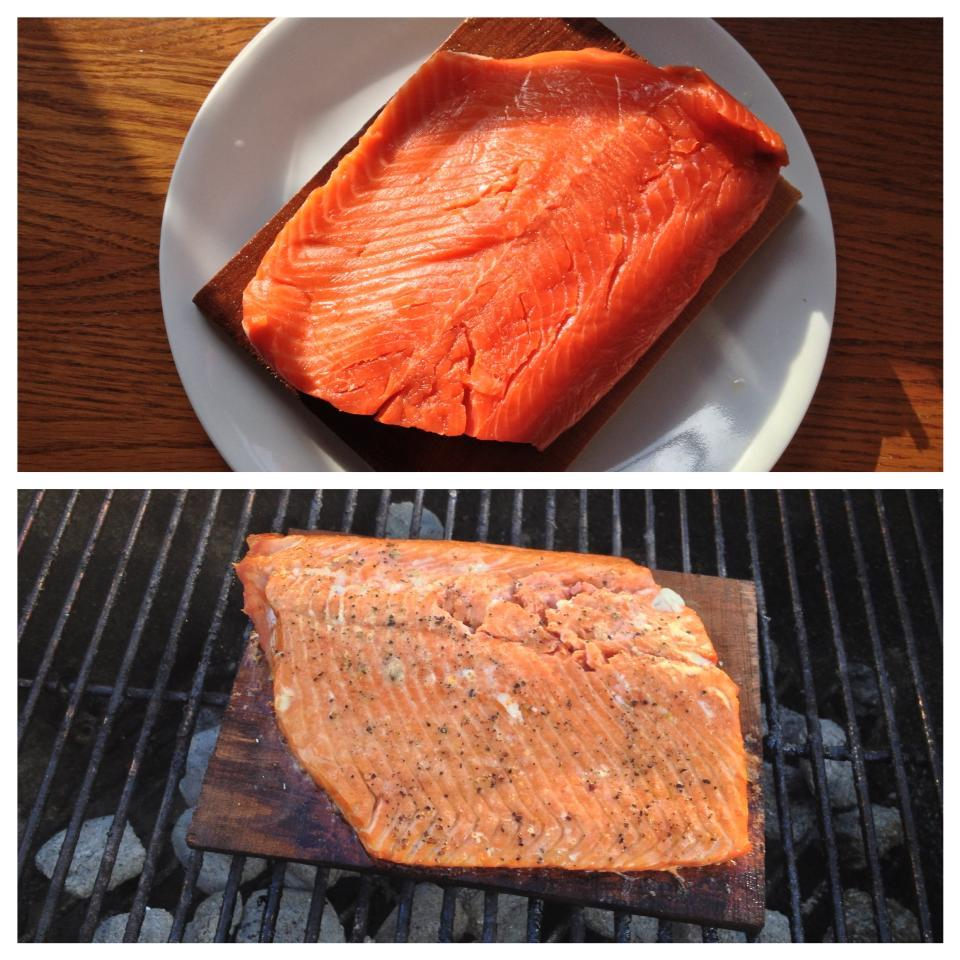 I've always wanted to cook wild salmon over a charcoal grill on a cedar plank. Rubbed with salt, pepper, lemon juice and olive oil. It was one of the most amazing things ever. Burgers will need to move over just a little this summer…