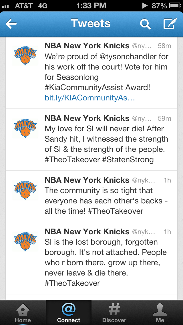 The New York Knicks are Staten Strong!