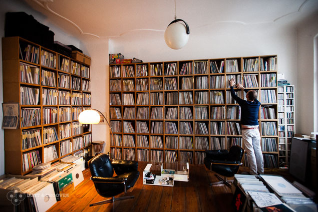 Claas Brieler's record room. (via Dust & Grooves)