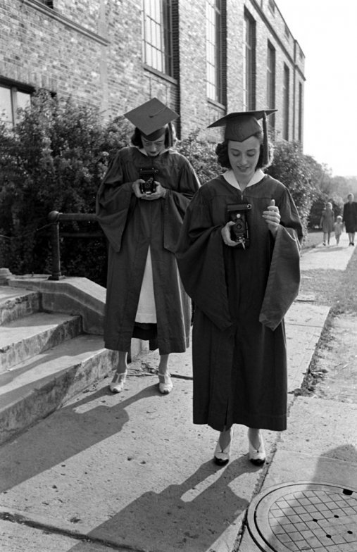 High school graduation. Mansfield, Ohio, 1941. By Alfred Eisenstaedt
