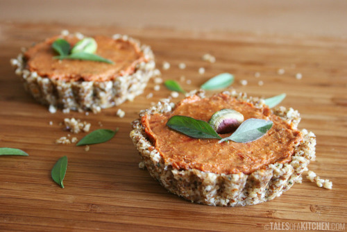 findvegan:  tomato tarts filled with sun dried tomato cream