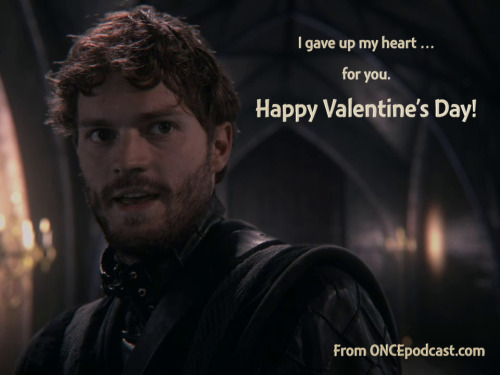 I gave up my heart … for you. Happy Valentine's Day! From your friends at ONCE podcast.
