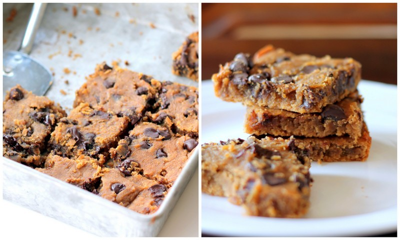 Flourless Chocolate Chip Blondies {vegan, gluten-free} (via Ambitious Kitchen)